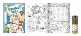 We are very proud to introduce our new and exciting creation <br /> The Adventure Book!<br /> <br /> Designed to be given to children who enter any of our franchise stores, each page is a fun and exciting journey with activities, colouring and puzzles. So while the adults