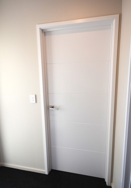 Simple white internal doors