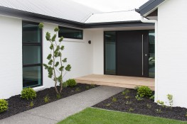 Another view of the modern stylish choice of front door