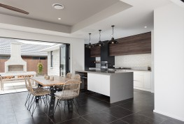 Plan a lovely inset ceiling in the family area to create a spacious feeling