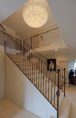 Create a statement staircase with fabulous rails and lighting