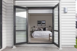A master bedrooms private outdoor access