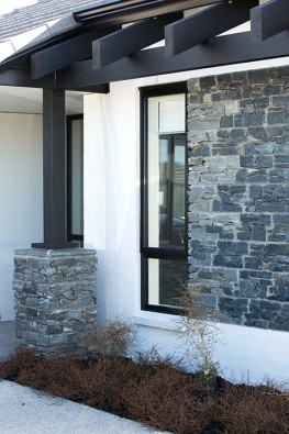 Use schist as a feature on an exterior wall